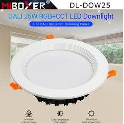 Светодиодный светильник Miboxer с регулируемой яркостью, 25 Вт, RGB + CCT, светодиодный светильник с регулируемой яркостью, светодиодный потолочный...