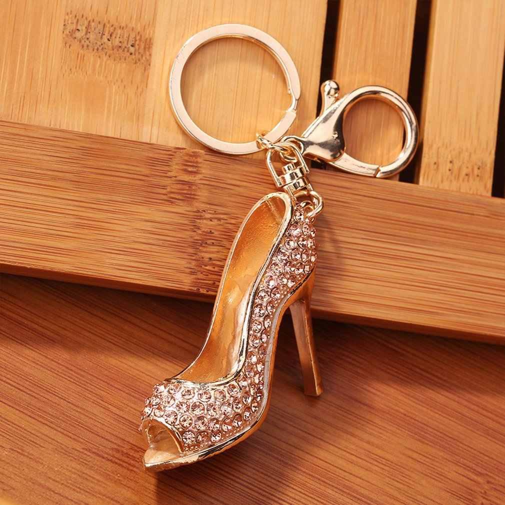 Sepatu Bertumit Tinggi Gantungan Kunci Wanita Gantungan Kunci Tas Liontin Menawan Tas Rantai Tas Perhiasan Fashion Hadiah Ulang Tahun
