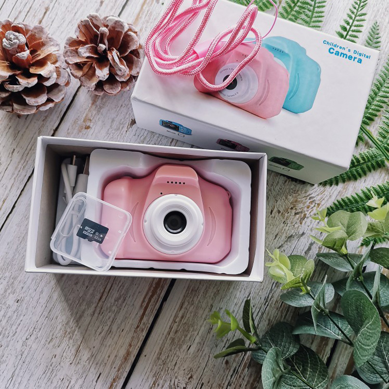 Mini Digital Camera Toys For Children Photography Props 2 Inch HD Screen Chargable Camera Electronic Toys Baby Birthday Gift