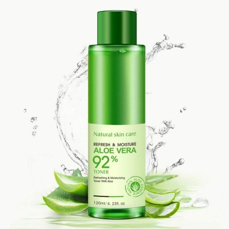 120ml Natural Face Toner Aloe Vera Gel VC Essence Skin Care Hydrating Moisturizing Lighten Pore Toner