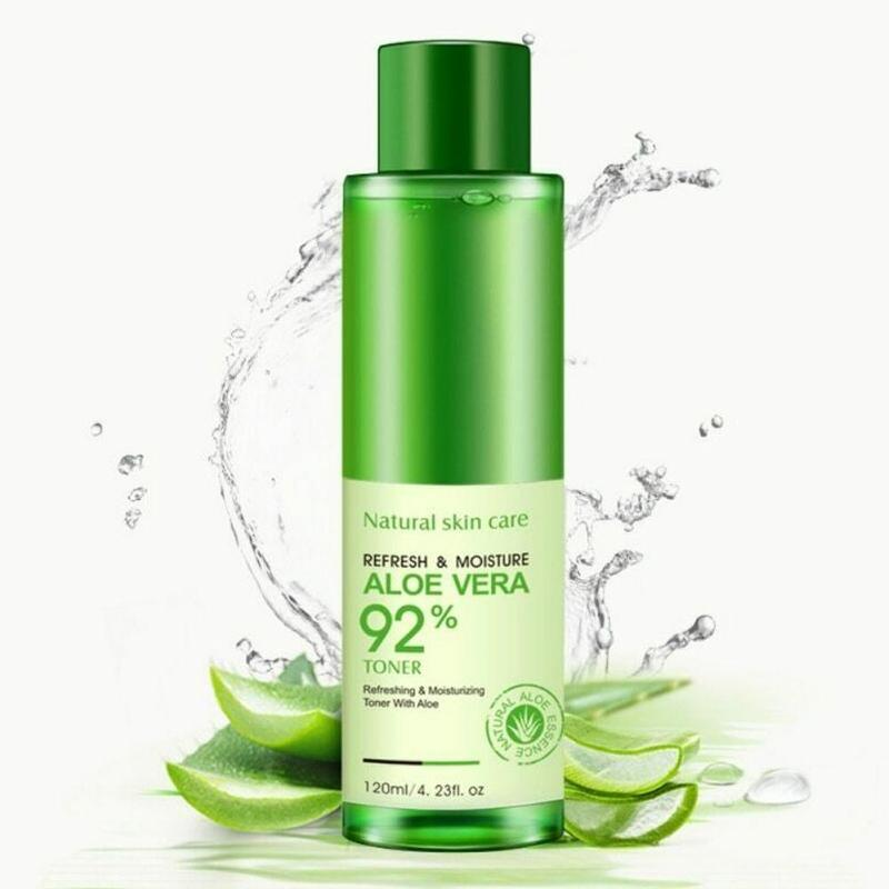 120ml Natural Face Toner Aloe Vera Gel VC Skin Care Hydrating Moisturizing Lighten Pore Toner