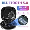 Новые беспроводные Bluetooth наушники TWS  спортивные наушники со светодиодным дисплеем  8D  стереонаушники с микрофоном  зарядная коробка  800 мАч  ...