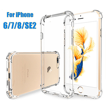 Shockproof Case For iPhone 6 6S 7 8 Plus SE 2020 Transparent Soft Silicone Cover For iPhone 7 Plus Case On i Phone 7Plus 8Plus image