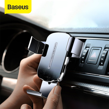 Baseus 15W Wireless Car Charger for Mobile Phone Holder Stand Car Air Vent Mount Holder Fast Wireless Charging Car Phone Holder