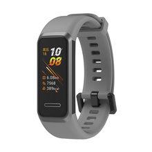 Zachte Verstelbare Siliconen Vervanging Polsband Met Gespen Sport Armband Strap Voor Huawei Band 4e 3e Honor Band 4 Running