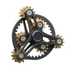 2020 9-Red Linkage Gears Fingertip Spinner Fingertip Finger Top Gyro Toys Hand Spiner Spiral Desktop Anti Stress Finger Game(China)