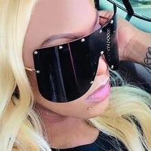 2019 Fashion Oversized Shield Sunglasses Women Men Luxulry B