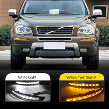 CSCSNL 2Pcs Für Volvo XC90 2007 2008 2009 2010 2011 2012 2013 Gelb Signal Auto LED DRL LED tagfahrlicht Tageslicht