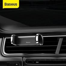 Baseus-Soporte de teléfono para coche, salida de aire, montaje automático, ajustable, para Iphone, Xiaomi, 4,7-6,5 pulgadas
