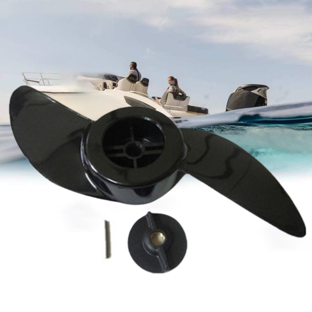 Durable Outboard Motor Electric Engine 2 Blades Replacement Parts Stable Outdoor Boat Propeller Fishing Marine For Haibo ET34L