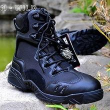 Męskie buty taktyczne deserowe taktyczne buty wojskowe odkryte buty górskie wojskowe buty wojskowe EUR rozmiar 39-45 tanie tanio demeysis CN (pochodzenie) RUBBER Skórzane Pasuje na mniejsze stopy niezwykle Proszę sprawdzić informacje o rozmiarach ze sklepu