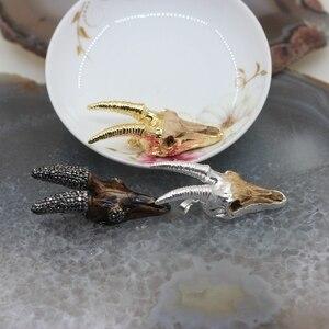 Image 5 - 5 шт./лот, резной кулон на роговую головку из козьего Longhorn каучука, позолоченный Гальванизированный набор краев, шнековый кулон, ювелирные изделия, оптовая продажа