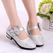 Детская повседневная обувь; свадебные модельные туфли для девочек; детские сандалии принцессы с бантом; кожаная обувь для девочек; Повседневная обувь; туфли на плоской подошве