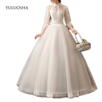 YULUOSHA Formal Dress Women Elegant Lace Ruched Tiered Evening Gowns Vestidos De Noche Largos Elegantes De Fiesta 2020 New