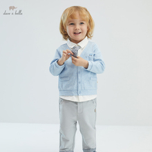 DBX16357 dave bella spring baby boys casual removable tie clothing sets kids fashion long sleeve sets children 2 pcs suit