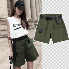 Summer Shorts For Women 2020 Army Green/Khaki/Black Buckle S