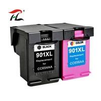 Ylc 1 Set 901XL Compatibel Voor HP901 Xl Voor Hp Officejet 4500 J4500 J4580 J4550 J4540 J4680 J4524 J4535 J4585 j4624 J4660 Printer