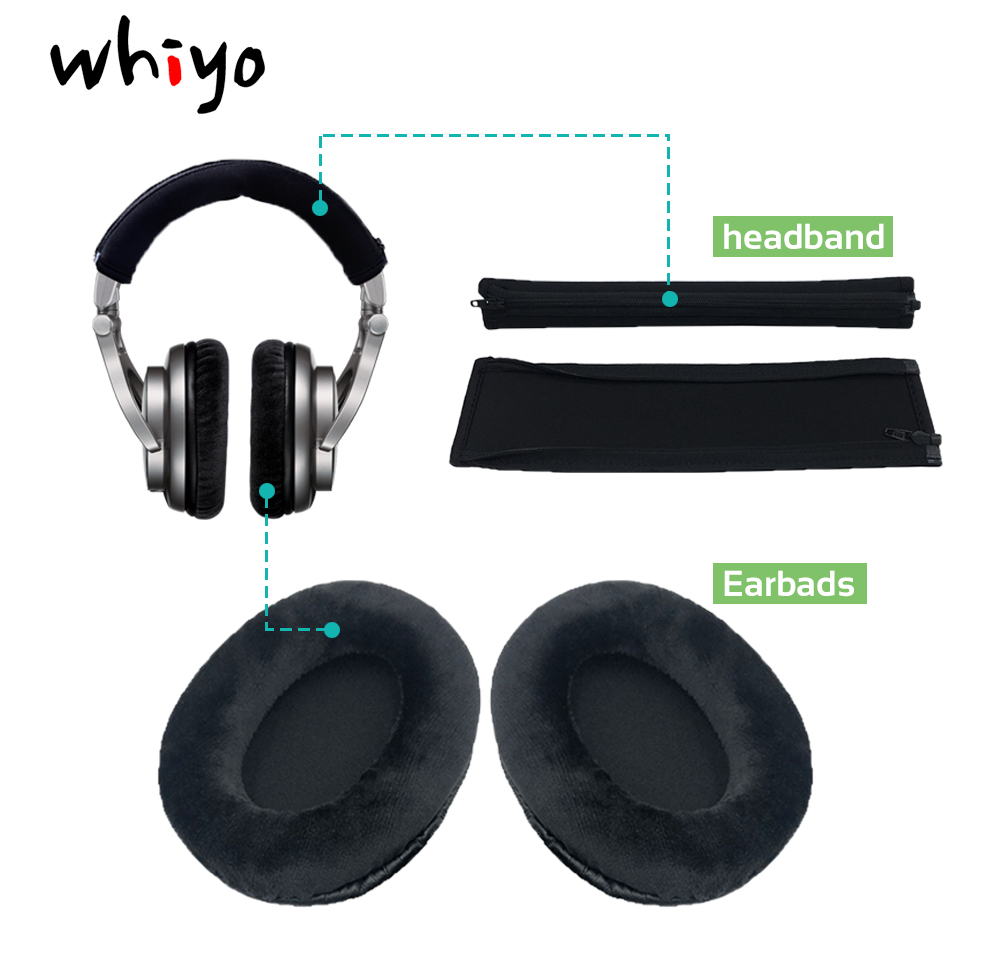 Whiyo Ear Pads Cushion Cover Earpads Headband Replacement Cups For Shure SRH940 SRH440 SRH240A SRH840 Headphones