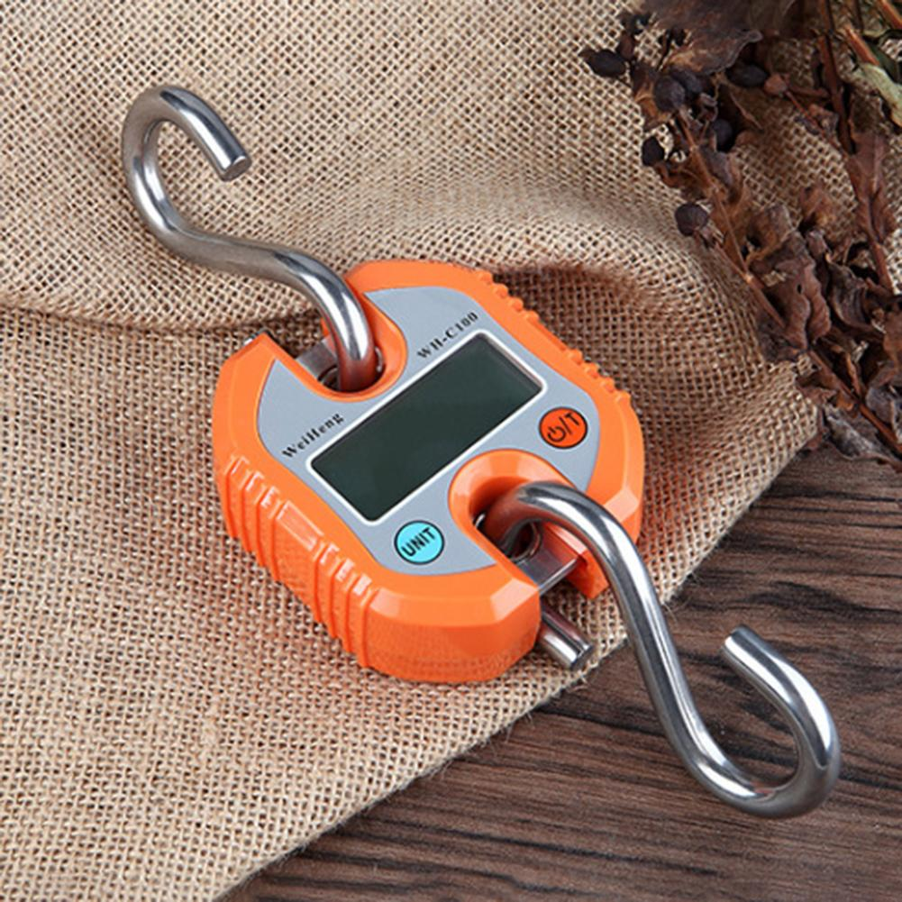 Portable  C100 150kg Digital Electronic Fishing Hanging Weighing Scale Balance Tools Kitchen Scales     - title=
