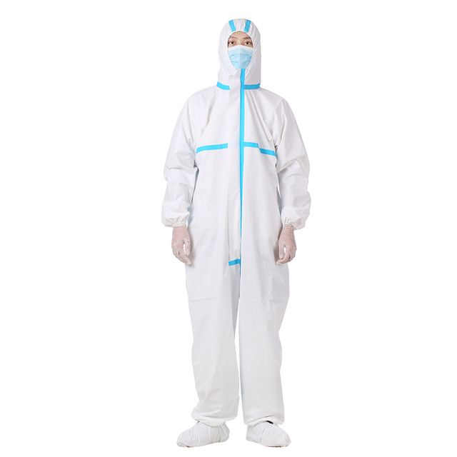 Professional Protective Clothing Coverall Hazmat Suit Protection PPE Suit Protective Disposable Clothing Fact