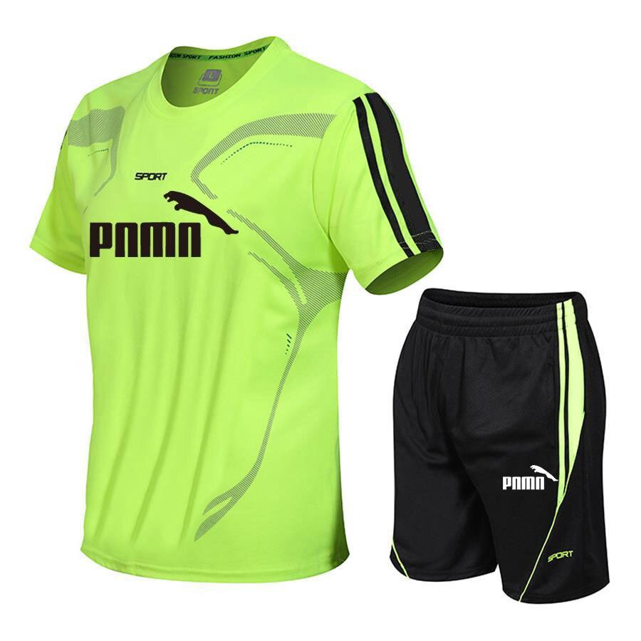 New summer suit men's sports suit fashion casual men's suit men's clothes quick drying T-shirt shorts brand men's sports suit 5