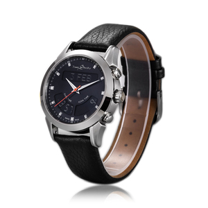Image 1 - Muslim Watch with Genuine Leather Strap Waterproof Islamic Azan Wristwatch Men Clock