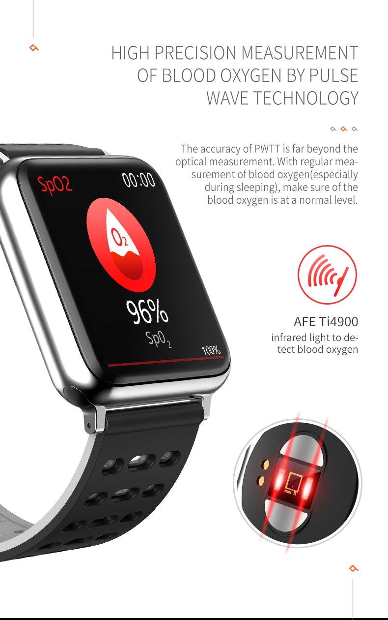 Banda de Pulso Medição da Freqüência Cardíaca para Android Kaihai Fitness Atividade Rastreador Ppg Spo2 Pulseira Inteligente Pressão Arterial Ios Ecg