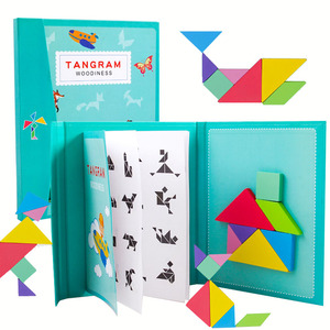 New Kids Magnetic 3D Puzzle Jigsaw Tangram Thinking Training Game Baby Montessori Learning Educational Wooden Toys for Children(China)