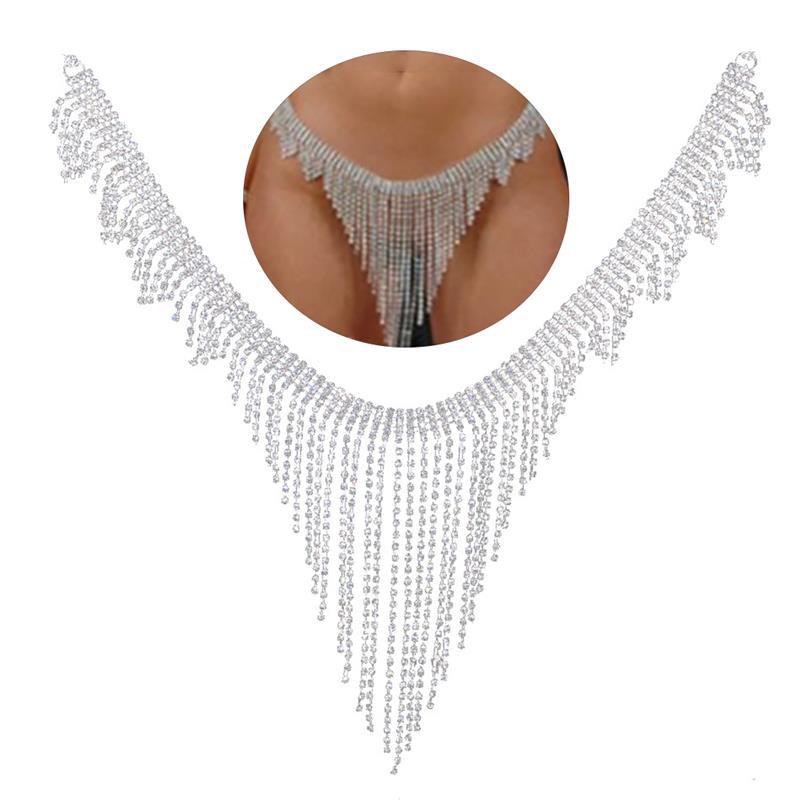 2020 Nieuwe Mode sieraden Taille Chain Crystal Rhinestone Decor Sexy Buik Keten Kwastje Body Chain Accessoires Voor Zomer Strand| |   - AliExpress