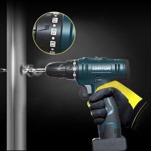 Image 4 - Lomvum furadeira elétrica à prova dwaterproof água parafusadeira elétrica recarregável multifunções ferramentas elétricas mini furadeira sem fio