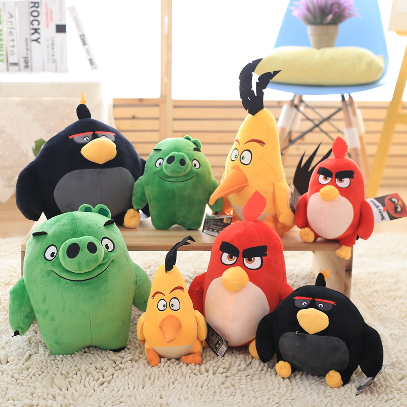 Birds Plush Toy Red Chuck Bomb Bad Piggies Stuffed Toys Cute Soft Toy Holiday Gifts For Children Children's Birthday Present