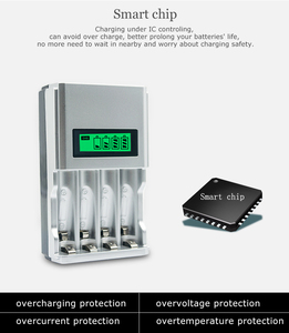 Image 4 - Hot quality 4 Slots LCD Display Smart Intelligent Battery Charger for AA / AAA NiCd NiMh Rechargeable Batteries EU Plug#8175
