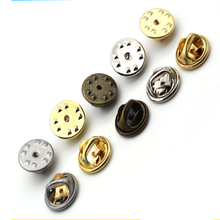50 pcs/lot Gold Rhodium Copper Nail Tie Tack Lapel Pin Back Clutch Scatter Butterfly Clasp brooch Jeans buttons DIY Jewelry