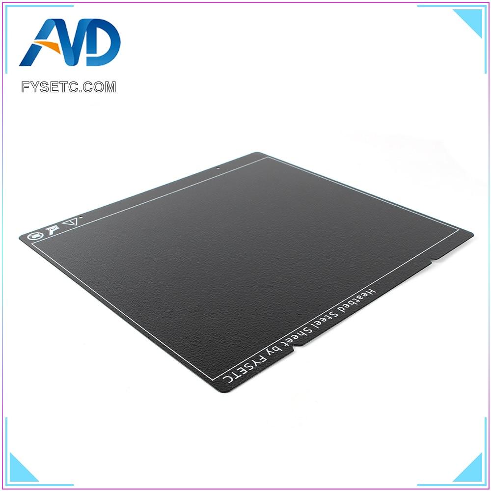 cheapest Prusa i3 MK3 MK52 Black Double Sided Textured PEI Spring Steel Sheet Powder Coated PEI Build Sheet For Prusa i3 MK2 5S mk3 MK3S