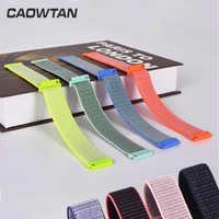 Nylon Watch Strap For Samsung Galaxy 42/46mm Gear S3/sport/S2 Classic 22 20mm Watchband nylon Sport Loop Band