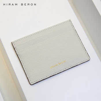 Hiram Beron CUSTOM NAME FREE Card holder for women gift for birthday luxury leather product dropship