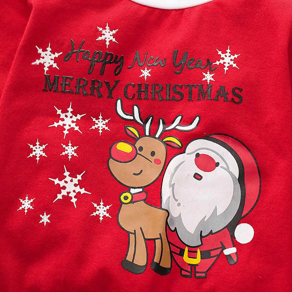 ARLONEET 3PCS פעוט תינוקת ילד חג המולד חדש שנה סנטה צמרות + מכנסיים + כובע סט סנטה תלבושות חליפה בגדי חג המולד פיג 'מה CO15