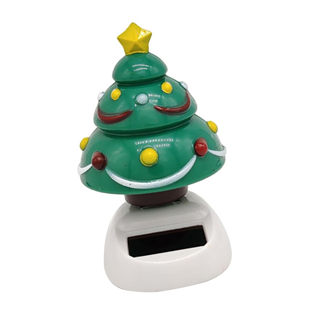 Cute Solar Powered Dancing Christmas Tree Home Car Decor Ornament Gadget Toy