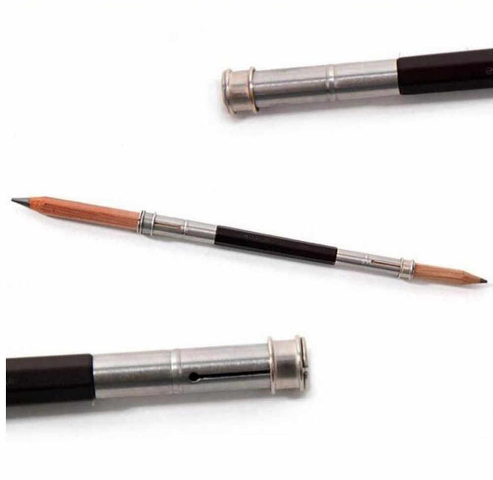 1PC Adjustable Dual Head Pencil Extender Holder Sketch School Office Painting Art Write Tool Writing Gift Pencil Extender