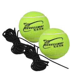 2 pcs Professional Tennis Training Partner Rebound Practice Ball With 3.8m Elastic Rope Rubber Ball For Beginner