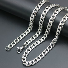 Fashion Boy Man Curb Cuban Link Chain Stainless Steel Mens Womens Bracelets Chains AMYA Jewelry for Men