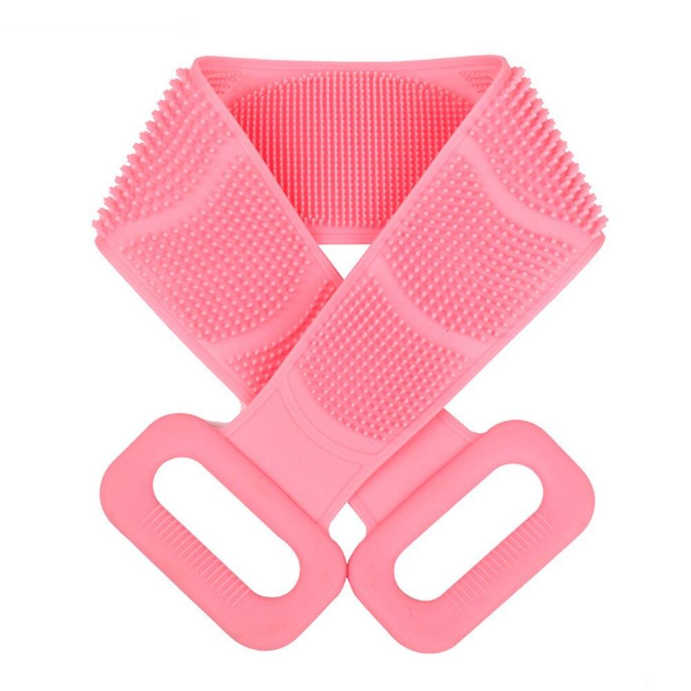 Herramienta de limpieza exfoliante corporal, frotador de espalda de ducha de silicona suave de doble cara, producto para eliminar la piel muerta, cinturón de baño, cepillo de masaje, toalla Cepillos, esponjas y estropajos de baño    - AliExpress