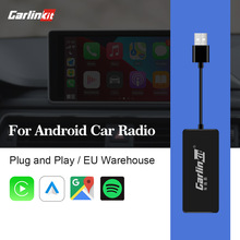 Carlinkit llave electrónica CarPlay con USB para Android, reproductor Multimedia con pantalla de Android, Autokit, adaptador con cable, mapa IOS14