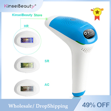 Kinseibeauty Laser Hair Removal Machine 500000 Flashes IPL Epilator Use for Face
