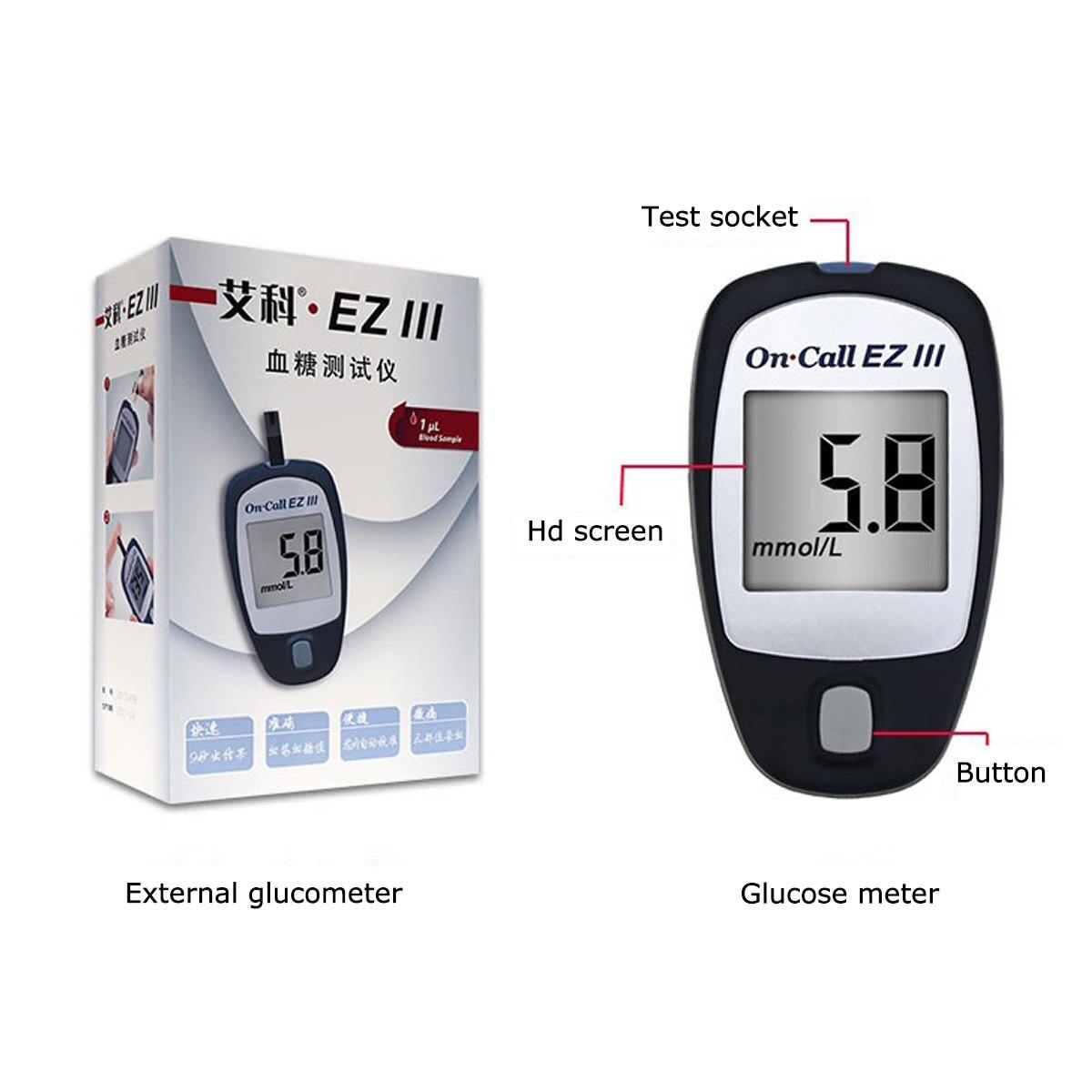 Глюкометр в крови медицинский прибор для измерения уровня сахара в крови глюкометр диабетические тестовые полоски для диабета глюкометро