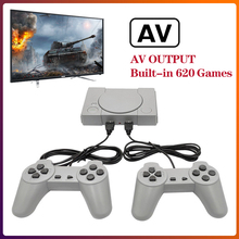 Portable Video Game Consoles for PS1 8Bit System 620 Classic Games Family TV Retro Game Console Dual Players