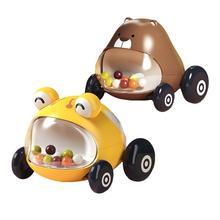 2 PCS Baby Pull Back Car Toy Set Mini Plastic Pull Back Car Vehicle Toys Boys Girls Children Educational Unique Inertial Car
