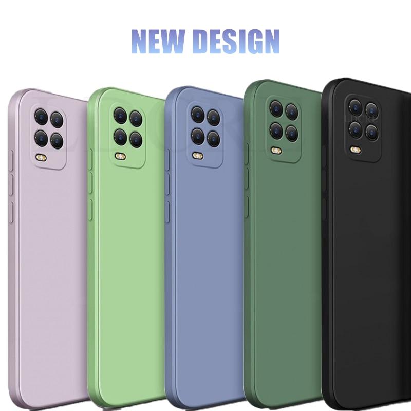 For Xiaomi Mi 10 Lite Case Magic Square Silicone Anti-slip Original Case For Xiaomi Mi 10 5G Case Cover For Xiaomi Mi 10 Pro 5G(China)