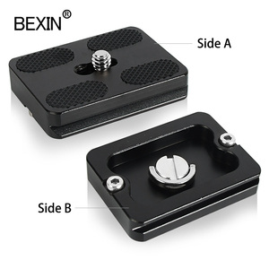 Image 5 - BEXIN tripod plate quick release plate small camera plate quick clamp fast mount PU plate for arca swiss dslr camera tripod head