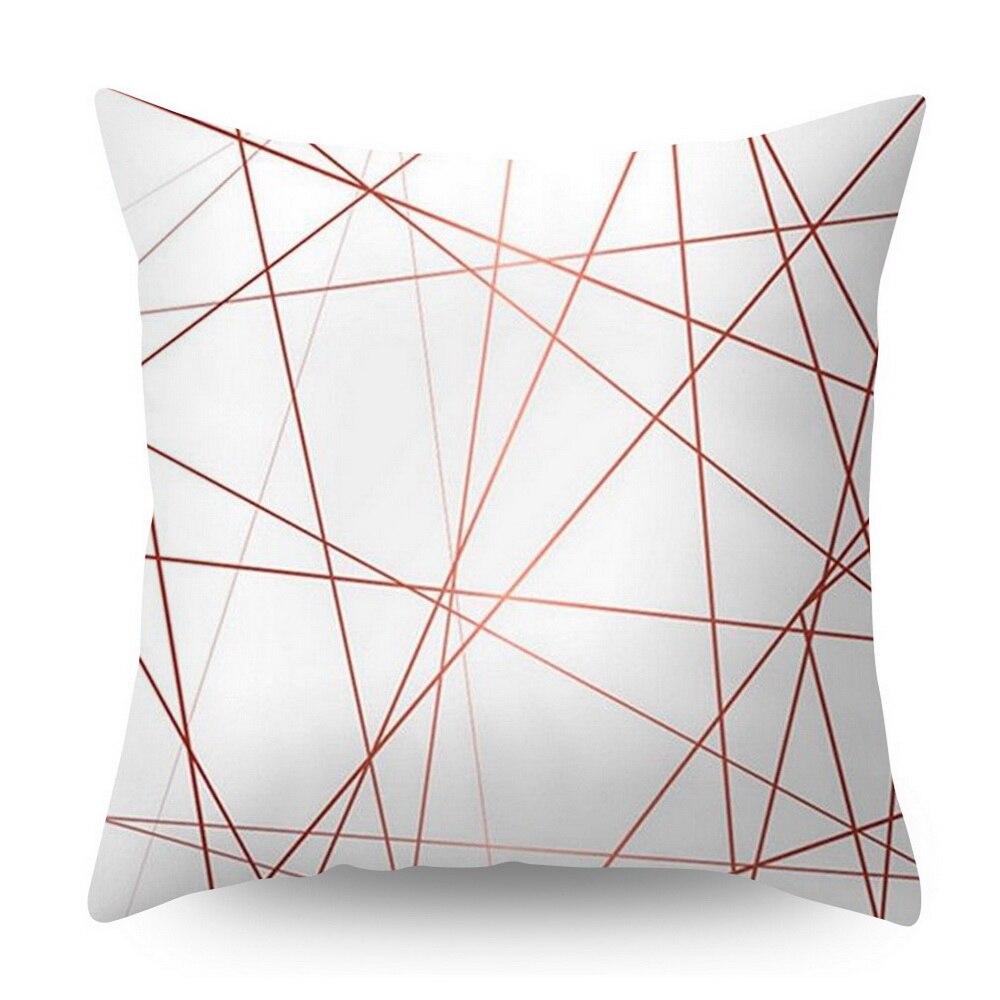 Розовое золото квадратная подушка крышка с геометрическим рисунком сказочной подушка чехол полиэстер декоративная наволочка для подушки для домашнего декора размером 45*45 см - Цвет: Оранжевый